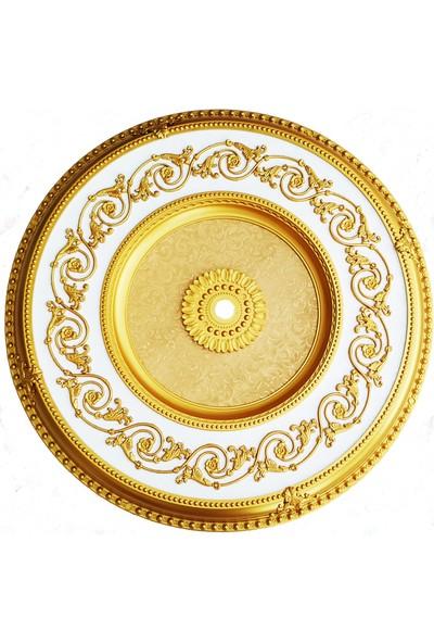 can Oval Altın Beyaz Saray Tavan 100 cm