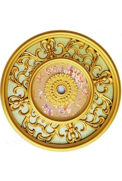 can Oval Altın Simli Saray Tavan 65 cm
