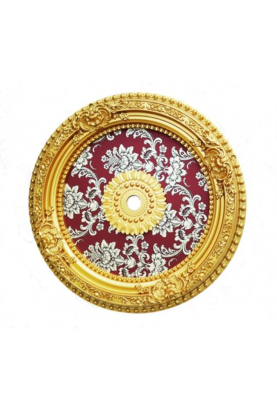 can Oval Bordo Altın Saray Tavan 60 cm