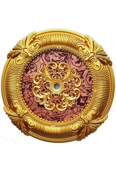 can Oval Bordo Altın Saray Tavan 67 cm