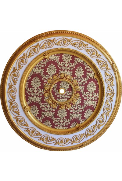 can Oval Bordo Altın Saray Tavan 90 cm