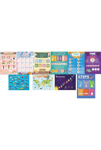 Üze Ingilizce Eğitim Posterleri 2. Seri