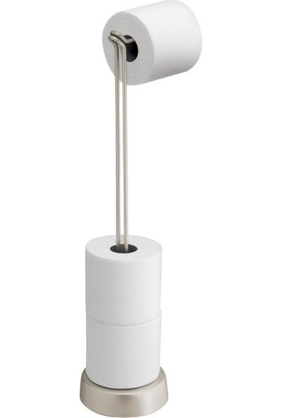 Bosphorus Tuvalet Kağıdı Standı Yedeklikli Gümüş Kaplama Model