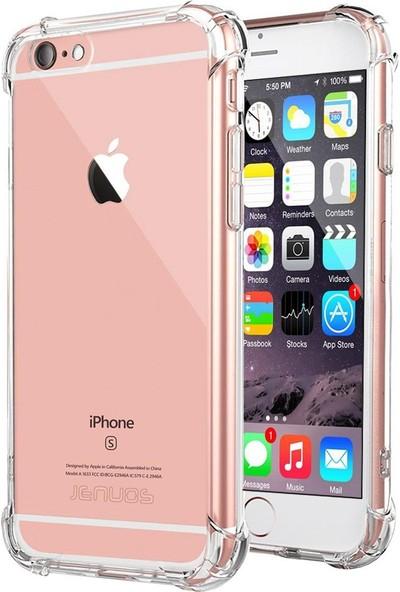 Melikzade Apple iPhone 6 Köşe Korumalı Darbe Emici Airbag Silikon Kılıf Arka Kapak - Şeffaf