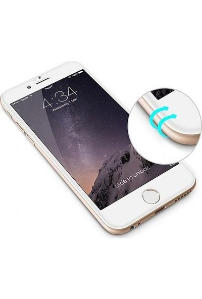 Zore Apple iPhone 8 10D Tam Kaplayan Curved Temperli Ekran Koruyucu Beyaz