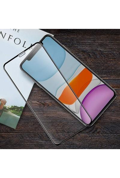 Zore Apple iPhone 11 10D Tam Kaplayan Curved Temperli Ekran Koruyucu Siyah