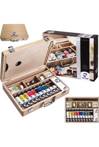 Van Gogh Basic Box Ahşap Çantalı Yağlı Boya Seti