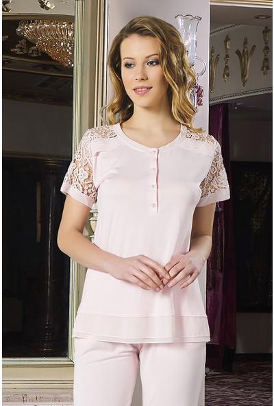 Barina 739 Kadın Cotton Hamile / Lohusa Üçlü Pijama Seti