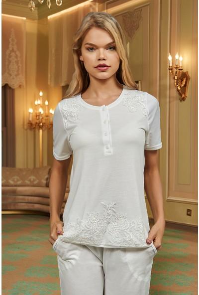Barina 787 Kadın Cotton Hamile / Lohusa Üçlü Pijama Seti