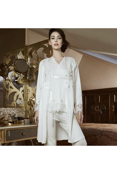 Barina 765 Kadın Cotton Hamile / Lohusa Üçlü Pijama Seti