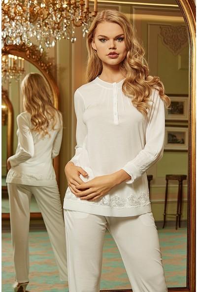 Barina 711 Kadın Cotton Hamile / Lohusa Üçlü Pijama Seti