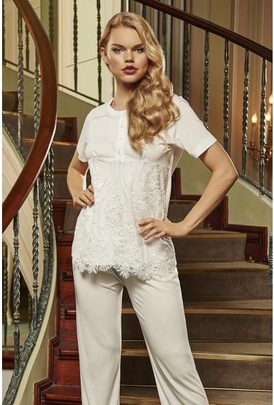 Barina 767 Kadın Cotton Hamile / Lohusa Üçlü Pijama Seti