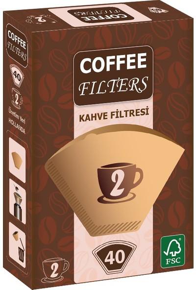 Coffee Filters Filtre Kahve Kağıdı No:2 40'lı Paket