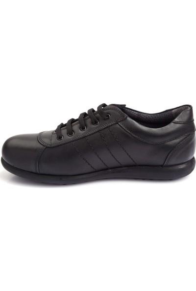Pabucchi Erkek Kahverengi Deri Bağcıklı Günlük Ayakkabı