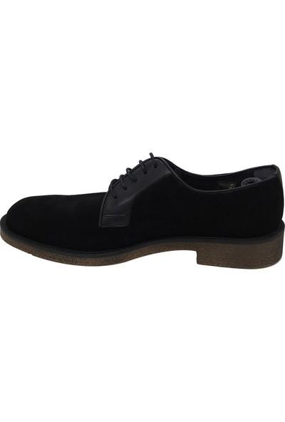 Serdar Yeşil Erkek Siyah Deri Termo Taban Klasik Ayakkabı