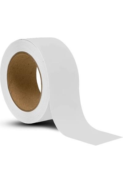 Bant Marketim Yer Işaretleme Yer Bandı Pvc Vinil Bant 50 mm x 33 m Beyaz
