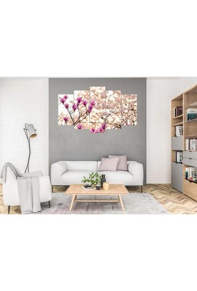 Hediye Kapında 5 Parçalı Dekoratif Tablo Çiçek