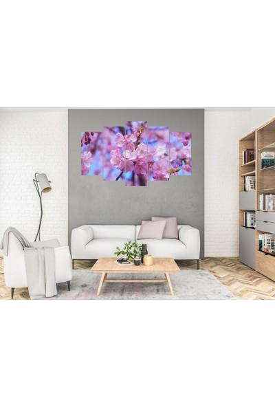 Hediye Kapında 5 Parçalı Dekoratif Tablo Meyve Çiçeği