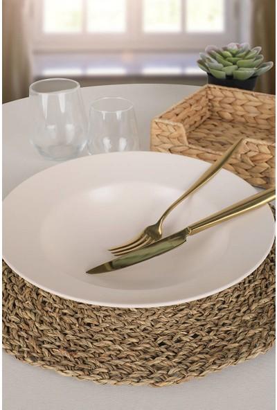Keramika Mat Transparan Beyaz Delta Makarna Tabağı 26 cm