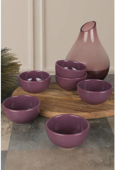 Keramika Mor Bulut Çerezlik/Sosluk 8 Cm 6 Adet