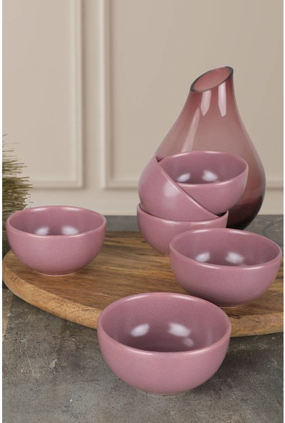 Keramika Mat Violet Bulut Çerezlik/Sosluk 8 Cm 6 Adet
