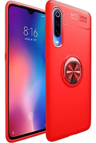 Tbkgsm Xiaomi Mi9 Lite Ravel Yüzüklü Silikon Kılıf Kırmızı