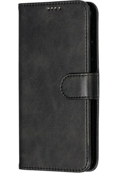 Tbkgsm Apple iPhone 11 Deri Kartlıklı Cüzdanlı Kılıf Siyah