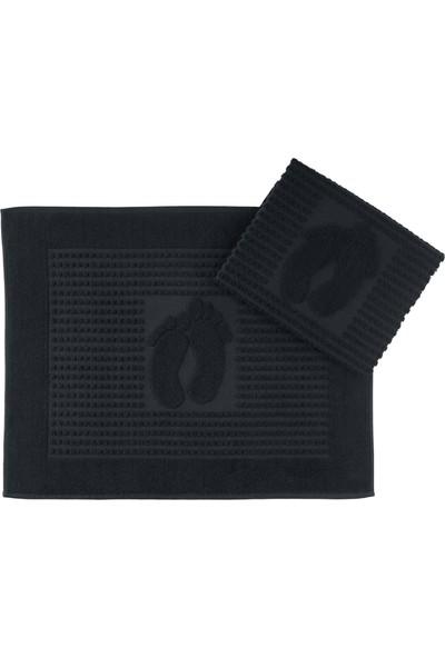 Nakkısh Banyo Paspası 50 x 70 2'li Siyah