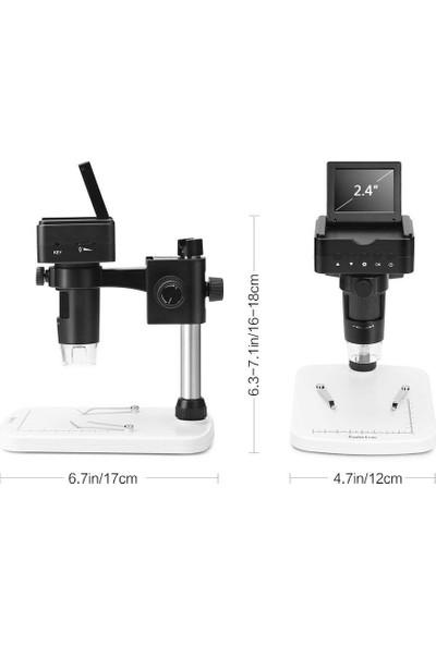 "Koolertron 2.4"" 1080P LCD HDMI / AV / USB Output 10-220X Zoom Digital Microscope"