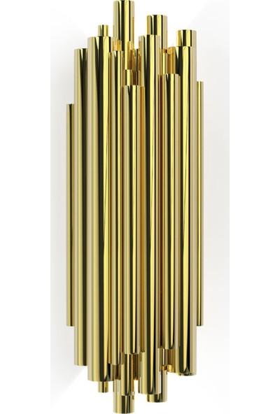 Kule Aydınlatma Mat Altın Modern Aplik KL-314