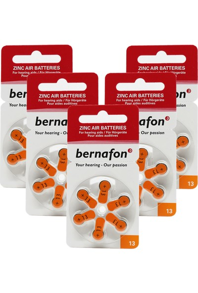 Bernafon 13 Numara Işitme Cihazı Pili 5*10 (Toplam 30 Adet)