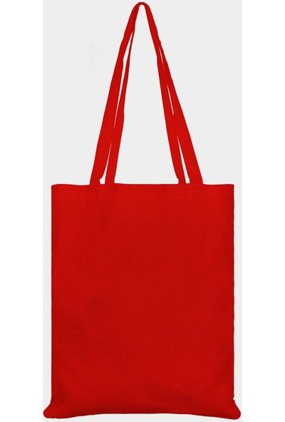 Çınar Bez Çanta Kırmızı Bez Çanta - 10'lu Paket