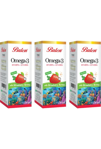 Balen Omega 3 Çilek Aromalı Balık Yağı x 3 Adet