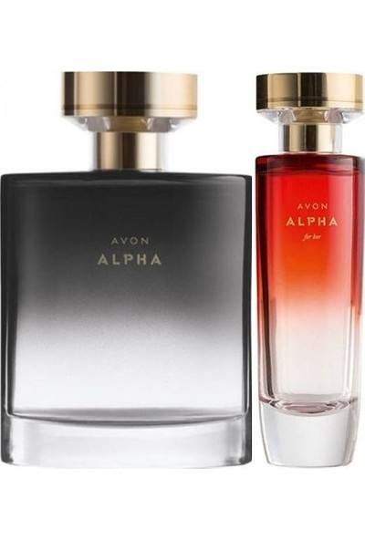 Avon Alpha 50 ml Kadın Edp+Alpha 75 ml Erkek Edt