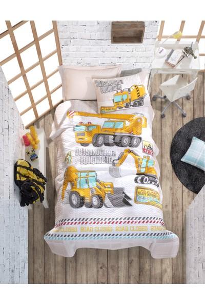 Cotton Box Tek Kişilik Çocuk 4 Mevsim Set Track Turkuaz (Cotton Box)