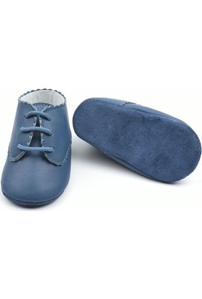 Funny Baby Lacivert Doğal Bebek Ayakkabısı