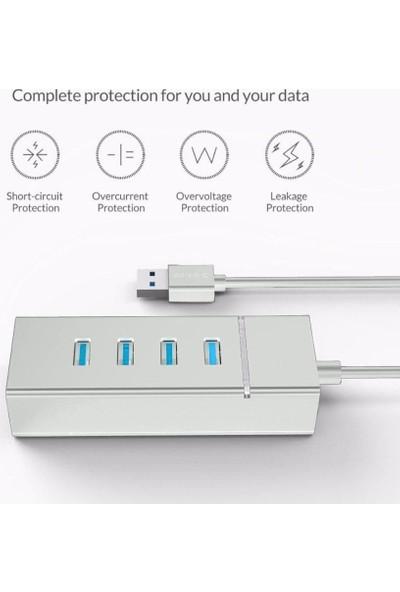 CoverZone USB 3.0 4 Port USB Çoğaltıcı 5gbps Super Speed 30CM Beyaz