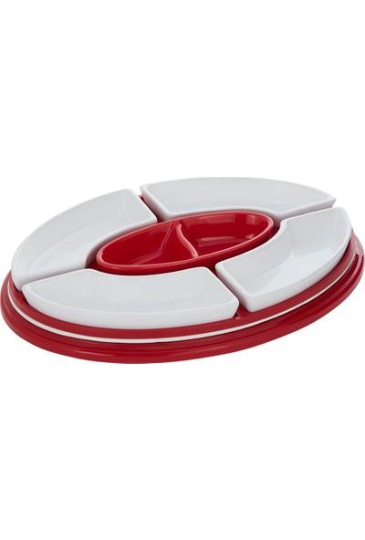 Nilşah Vakumlu Kahvaltılık Seti Kırmızı