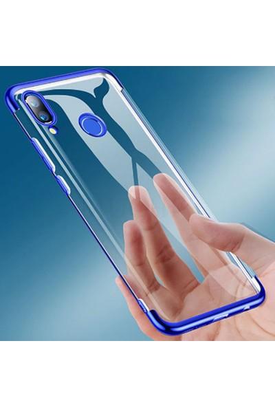 CoverZone Samsung Galaxy M30S Kılıf Dört Köşeli Lazer Silikon Kırmızı