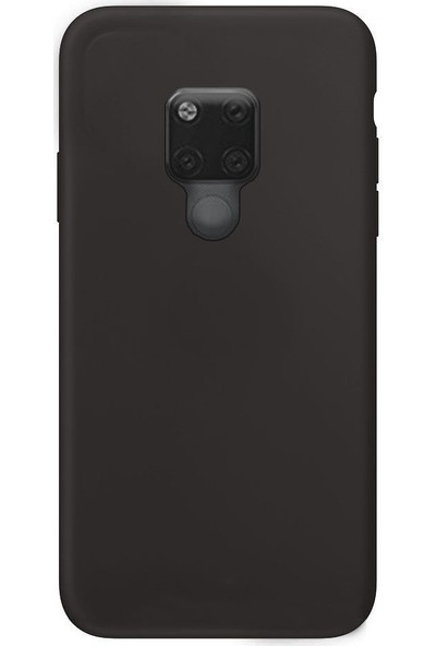 CoverZone Huawei Mate 30 Pro Kılıf Silky Silikon Delux Tasarım Siyah