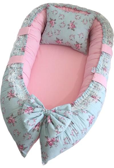 Modastra Babynest Çiçek ve Pembe Kombin Lüx Baby Nest