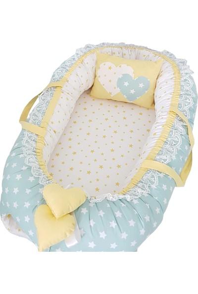 Modastra Babynest Mint Yeşil ve Sarı Tasarım Baby Nest