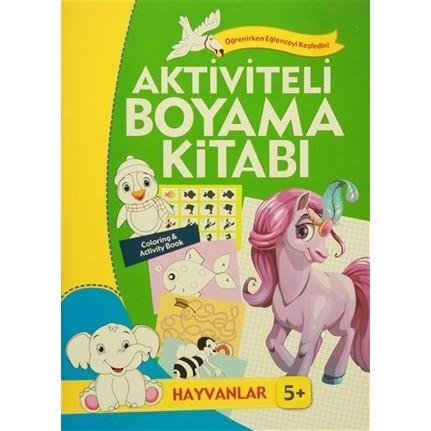 Aktiviteli Boyama Kitabi 5 Yas Hayvanlar Yesil Kitap Fiyati