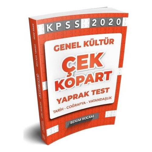 Benim Hocam Yayınları 2020 Genel Kültür Çek Kopart Yaprak Test