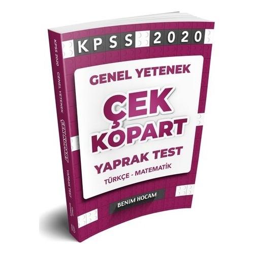 Benim Hocam Yayınları 2020 Genel Yetenek Çek Kopart Yaprak Test