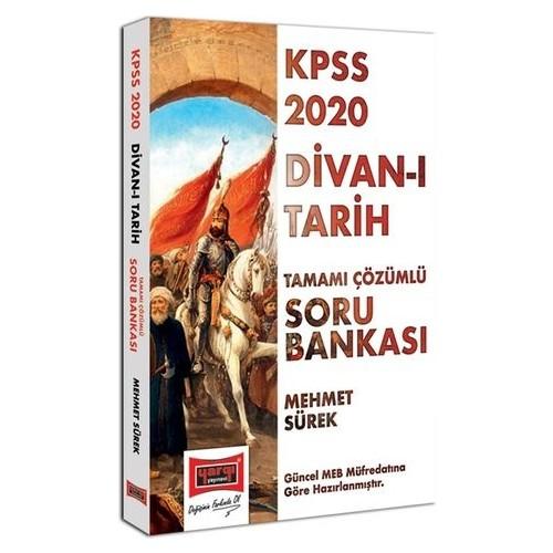 Yargı Yayınları 2020 KPSS Divan-I Tarih Tamamı Çözümlü Soru Bankası