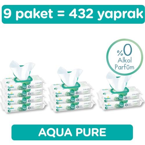 Prima Islak Havlu Mendil Aqua Pure 9'lu Fırsat Paketi 432 Yaprak