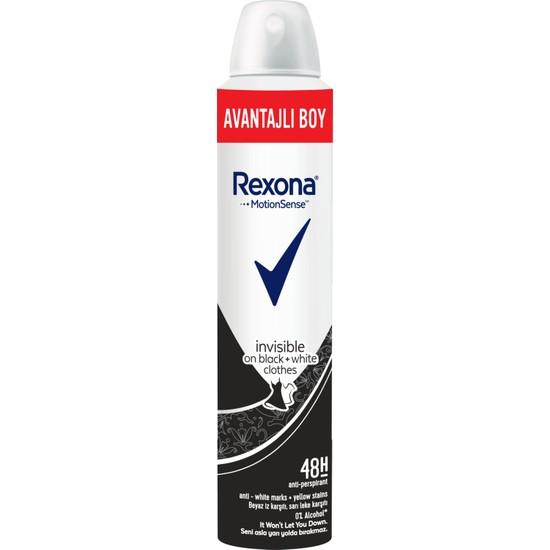 Rexona Invisible Black + White Kadın Sprey Deodorant 200 ml