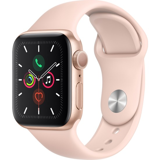 Apple Watch Seri 5 40mm GPS Gold Alüminyum Kasa ve Pink Sand Spor Kordon MWV72TU/A