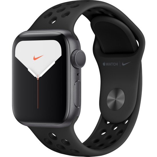 Apple Watch Nike Seri 5 40mm GPS Space Grey Alüminyum Kasa ve Antrasit/Siyah Nike Spor Kordon MX3T2TU/A